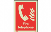 6452DD/R - FIRE TELEPHONE LOCATION SIGN 300 X 200mm